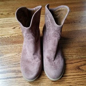 Express Brown Western Cowboy Boots Size 7